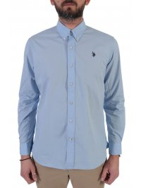 U.S. POLO ASSN U.S. POLO ASSN ΠΟΥΚΑΜΙΣΟ BUTTON DOWN REGULAR FIT KUSTAVI ΣΙΕΛ
