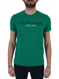 U.S. POLO ASSN U.S. POLO ASSN T-SHIRT INSTITUTIONAL ΠΡΑΣΙΝΟ