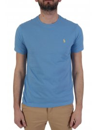 RALPH LAUREN RALPH LAUREN T-SHIRT  LOGO CUSTOM SLIM FIT ΣΙΕΛ