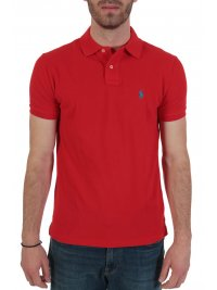 RALPH LAUREN RALPH LAUREN POLO CUSTOM SLIM FIT  ΚΟΚΚΙΝΟ