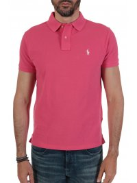 RALPH LAUREN RALPH LAUREN POLO CUSTOM SLIM FIT  ΣΚΟΥΡΟ ΡΟΖ