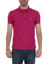 RALPH LAUREN RALPH LAUREN POLO CUSTOM SLIM FIT  ΦΟΥΞΙΑ
