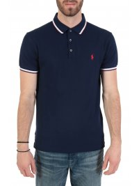 RALPH LAUREN RALPH LAUREN POLO  LOGO  SLIM FIT STRETCH MESH ΜΠΛΕ