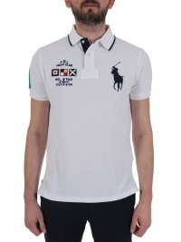 RALPH LAUREN RALPH LAUREN POLO  BIG PONY CUSTOM SLIM FIT ΛΕΥΚΟ