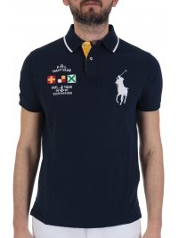 RALPH LAUREN RALPH LAUREN POLO  BIG PONY CUSTOM SLIM FIT ΜΠΛΕ