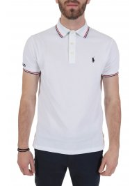 RALPH LAUREN RALPH LAUREN POLO  LOGO CUSTOM SLIM FIT ΛΕΥΚΟ