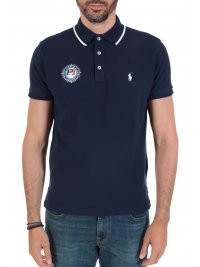 RALPH LAUREN RALPH LAUREN POLO  LOGO P1 CUSTOM SLIM FIT ΜΠΛΕ
