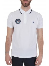 RALPH LAUREN RALPH LAUREN POLO  LOGO P1 CUSTOM SLIM FIT ΛΕΥΚΟ
