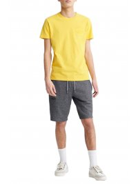 SUPERDRY SUPERDRY T-SHIRT PREMIUM GOODS TONAL INJECTION ΚΙΤΡΙΝΟ