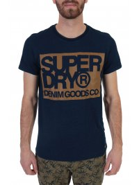 SUPERDRY SUPERDRY T-SHIRT DENIM GOODS CO PRINT ΜΠΛΕ