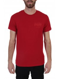 SUPERDRY SUPERDRY T-SHIRT PREMIUM GOODS TONAL INJECTION ΚΟΚΚΙΝΟ