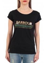BARBOUR BARBOUR INTERNATIONAL T-SHIRT LOGO ΚΟΥΜΠΙΑ ΩΜΟΥΣ ΜΑΥΡΟ