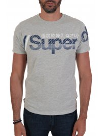 SUPERDRY SUPERDRY T-SHIRT CORE SPLIT LOGO ΓΚΡΙ