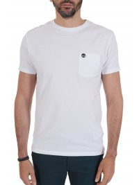 TIMBERLAND TIMBERLAND T-SHIRT SLIM FIT POCKET LOGO  ΛΕΥΚΟ