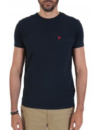 TIMBERLAND TIMBERLAND T-SHIRT SLIM FIT POCKET LOGO  ΜΠΛΕ