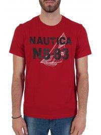 NAUTICA NAUTICA T-SHIRT  NS 83 ΚΟΚΚΙΝΟ
