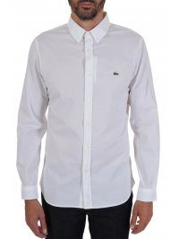 LACOSTE LACOSTE ΠΟΥΚΑΜΙΣΟ SLIM FIT STRETCH BUTTON DOWN ΛΕΥΚΟ