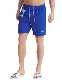 SUPERDRY SUPERDRY ΜΑΓΙΩ WATERPOLO SWIM SHORT ΗΛΕΚΤΡΙΚ ΜΠΛΕ