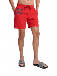 SUPERDRY SUPERDRY ΜΑΓΙΩ WATERPOLO SWIM SHORT ΚΟΚΚΙΝΟ
