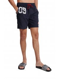 SUPERDRY SUPERDRY ΜΑΓΙΩ WATERPOLO SWIM SHORT ΜΠΛΕ