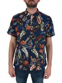SUPERDRY SUPERDRY ΠΟΥΚΑΜΙΣΟ HAWAIIAN BOX SHIRT ΜΠΛΕ