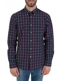 BARBOUR BARBOUR ΠΟΥΚΑΜΙΣΟ  BUTTON DOWN TAILORED FIT ΚΑΡΩ TATERSALL ΜΠΛΕ