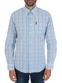 BARBOUR BARBOUR ΠΟΥΚΑΜΙΣΟ  BUTTON DOWN TAILORED FIT ΚΑΡΩ TATERSALL ΣΙΕΛ