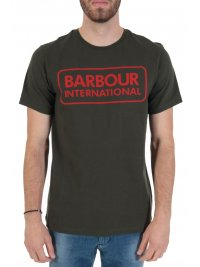 BARBOUR BARBOUR INTERNATIONAL T-SHIRT TAILORED FIT  ESSENTIAL LARGE LOGO ΧΑΚΙ