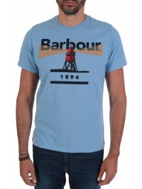 BARBOUR BARBOUR T-SHIRT TAILORED FIT LIGHTHOUSE ΣΙΕΛ