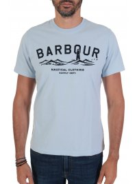 BARBOUR BARBOUR T-SHIRT TAILORED FIT BREESAY ΣΙΕΛ