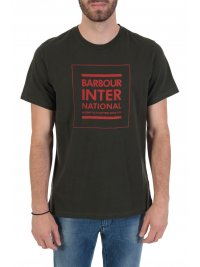 BARBOUR BARBOUR  INTERNATIONAL T-SHIRT TAILORED FIT STRIKE ΧΑΚΙ