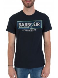 BARBOUR BARBOUR INTERNATIONAL T-SHIRT TAILORED FIT COMPRESSOR ΜΠΛΕ
