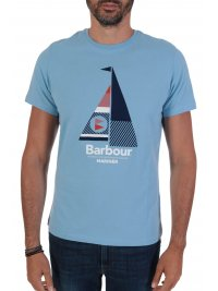 BARBOUR BARBOUR  T-SHIRT TAILORED FIT SAIL ΣΙΕΛ