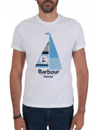 BARBOUR BARBOUR  T-SHIRT TAILORED FIT SAIL ΛΕΥΚΟ
