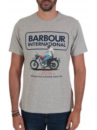 BARBOUR BARBOUR  INTERNATIONAL T-SHIRT SMQ RELAXED ΓΚΡΙ