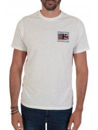 BARBOUR BARBOUR  INTERNATIONAL T-SHIRT SMQ TEAM FLAG ΛΕΥΚΟ