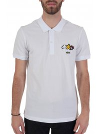 LACOSTE LACOSTE POLO UNISEX FRIENDS WITH YOU ΘΥΡΑΙΟΣ ΛΕΥΚΟ