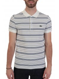 LACOSTE LACOSTE POLO REGULAR FIT ΜΑΡΙΝΙΕΡΑ ΛΕΥΚΟ