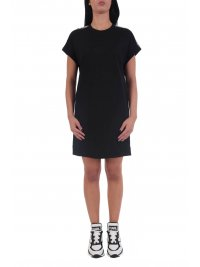 KARL LAGERFELD KARL LAGERFELD ΦΟΡΕΜΑ MERCERIZED JERSEY DRESS W/LOGO ΜΑΥΡΟ