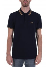 BOSS  BOSS POLO PADDY REGULAR FIT BLUE GOLD CAPSULE ΜΠΛΕ