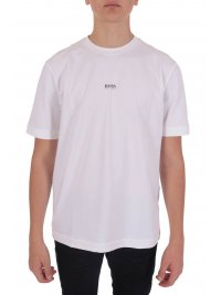 BOSS  BOSS CASUAL T-SHIRT  TCHUP ΛΕΥΚΟ