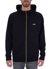 BOSS  BOSS ΦΟΡΜΑ FULL ZIP HOODIE SAGGY 1 BLUE GOLD CAPSULE  ΜΠΛΕ