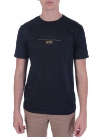 BOSS ATHLEISURE BOSS ATHLEISURE T-SHIRT TEEP 6 BLACK GOLD CAPSULE  ΜΠΛΕ