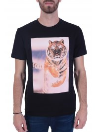 BOSS CASUAL BOSS CASUAL T-SHIRT  TOMIO 4 ΜΑΥΡΟ