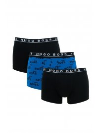 BOSS  BOSS BUSINESS ΕΣΩΡΟΥΧΟ 3PACK BOXER/TRUNK ONE DESIGN COTTON STRETCH ΜΑΥΡΟ