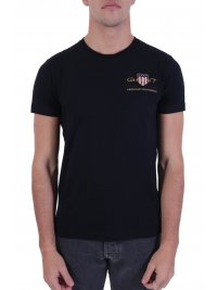 GANT GANT T-SHIRT ARCHIVE SHIELD ΜΑΥΡΟ