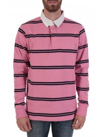GANT GANT POLO ΡΙΓΕ DOUBLE STRIPE HEAVY RUGGER ΡΟΖ