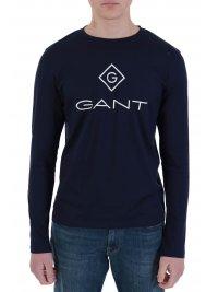 GANT GANT T-SHIRT LOCK UP ΜΠΛΕ