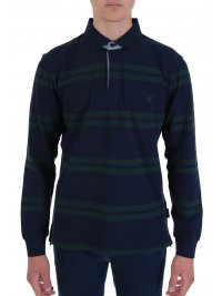 NAVY & GREEN NAVY&GREEN POLO ΡΙΓΕ YOUNG LINE TWO PLY ΠΡΑΣΙΝΟ