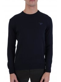 NAVY & GREEN NAVY&GREEN ΠΛΕΚΤΟ CREW NECK ΜΠΛΕ